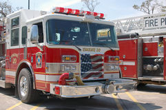 Autopompe antincendio - griglia patriottica Fotografie Stock