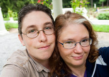 Autoportrait d'homme et de femme Image libre de droits