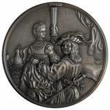 Autoportrait de bas-relief avec Saskia images libres de droits