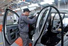 Autoproductie stock fotografie