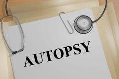 Autopsia - concepto médico ilustración del vector