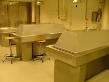 Autopsy room. In medical faculty stock images
