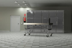 Autopsy room Royalty Free Stock Image