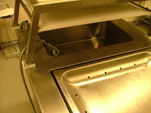 Autopsy room - washing basin Royalty Free Stock Photo