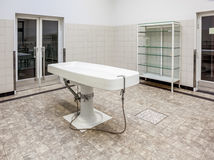 Autopsy tables in morgue Royalty Free Stock Photo