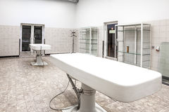 Autopsy tables in morgue Royalty Free Stock Photography