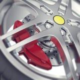 Autoradgroßaufnahme mit Fokuseffekt Abbildung 3D Lizenzfreie Stockfotos
