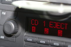 Autoradio et CD Image stock