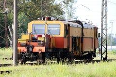 Autorail pour l'entretien du chemin de fer et des contrôles de sécurité photo stock