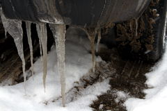 Autoreifen im Winter Lizenzfreies Stockfoto