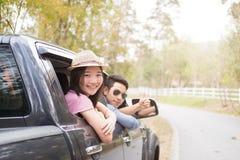 Autoreis en wegreis Royalty-vrije Stock Foto's