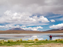 Autoreise in den Anden Lizenzfreies Stockbild