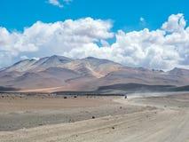 Autoreise in den Anden Stockfoto