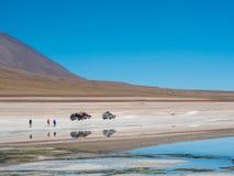Autoreise in den Anden Stockfotografie