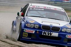 Autorennen (Alessandro ZANARDI, de FIA WTCC) Royalty-vrije Stock Foto's
