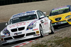 Autorennen, BMW 320si, Andy PRIAULX (WTCC) Stock Afbeelding