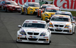 Autorennen (BMW 320si, de FIA WTCC) Stock Afbeeldingen