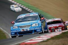 Autorennen (Chevrolet Lacetti, de FIA WTCC) Stock Fotografie