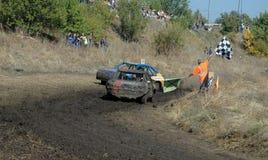 Autorennen für Überleben Lizenzfreies Stockfoto