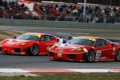 Autorennen (Ferrari F430, de FIA GT) Stock Afbeeldingen