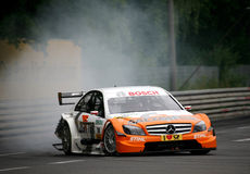 Autorennen (Gary Paffett, DTMrace) Royalty-vrije Stock Foto's
