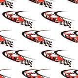 Autorennen naadloos patroon Royalty-vrije Stock Fotografie