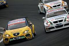 Autorennen, WTCC, ZETEL Leon (Jordi GENE) Royalty-vrije Stock Afbeelding