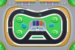 Autorennenspel hierboven wordt bekeken die van vector illustratie