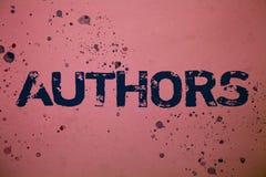 Autori del testo della scrittura I messaggi di Creator Ideas del compositore di Poet Biographer Playwright del giornalista dello  fotografia stock libera da diritti