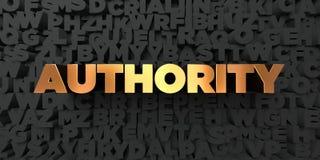 Autoridad - texto del oro en fondo negro - imagen común libre rendida 3D de los derechos libre illustration