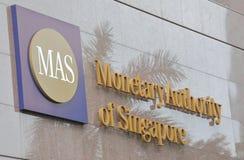 Autoridade monetária do MAS de Singapura fotos de stock