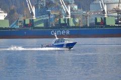 Autoridade portuária de Vancôver no trabalho foto de stock
