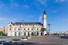 Autoridade portuária que constrói Valência, Espanha fotos de stock
