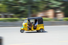 Autorikshaw. This is a three wheeler for hire available for local transport in many cities and sub-urban areas of India.Three passengers can travel.This vehicle Royalty Free Stock Photos
