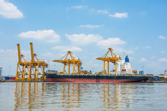 Autorità portuale della Tailandia Klongtoey immagine stock