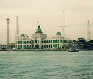 Autorità portuale di Port Said Fotografie Stock Libere da Diritti
