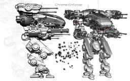 Autorité de Chrome illustration de vecteur