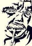 Autoritratto con una sigaretta Fotografia Stock Libera da Diritti