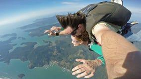 Autoritratto del tandem di immersione subacquea di cielo immagini stock