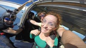 Autoritratto del tandem di immersione subacquea di cielo fotografie stock