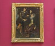 Autoritratto di Rubens con la moglie al Alte Pinakothek - Monaco di Baviera Immagine Stock