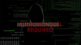 A autorização exigiu a tentativa de corte mal sucedida na caixa do email, criminoso irritado video estoque