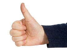 AUTORIZACIÓN del gesto de mano del hombre Fotos de archivo libres de regalías