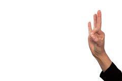 Autorización, mano con el pulgar ascendente y el pulgar abajo Fotos de archivo libres de regalías