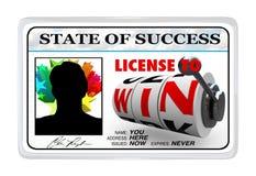 Autorizzazione vincere la scheda laminata di identificazione Immagini Stock Libere da Diritti