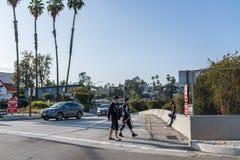 autoroute 101 à Los Angeles Photos libres de droits
