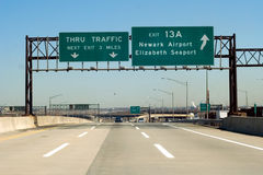 Autoroute à péage de NJ photo stock