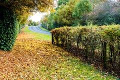 Autoroute BRITANNIQUE en automne Photo libre de droits