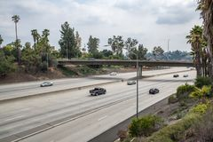 Autoroute 210 d'un état à un autre en Californie Photographie stock libre de droits