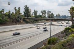 Autoroute 210 d'un état à un autre en Californie Photos stock